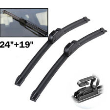 """Pair 24"""" 19"""" Front Window Windshield Wiper Blades Fit For Lincoln MKZ Zephyr LS"""
