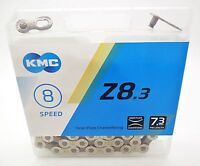 KMC Z8.3 Half Nickel Plated Bike Chain 6 - 12 - 18 - 21 - 24 Spd - Replaces Z51s