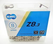 KMC Z8.3 Half Nickel Plated Bike Chain 6 - 12 - 18 - 21 - 24 Spd - Replaces Z51s