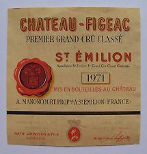 Etiquette Château Figeac 1971