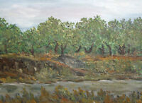 European art oil painting landscape 1988 signed