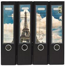 Design Ordner-Rückenschilder zum Einstecken breit - Motiv La Tour Eiffel -IC-009