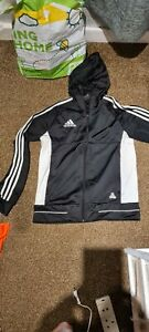 Boys Adidas hoodie, Age 13-14, Black Zip Up Sports Jacket