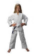 AKTION JUDOAnzug wei�Ÿ Judo-Anzug NEU 160, Reiskornwebung mit Gürtel