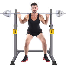 Home Gym Fitness Gym Equipment Adjustable Squat Rack With Dip Bars