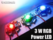 1 Stück RGB Power LED steuerbar 3W 3x350mA 3-Chip 6-Pin 105 lm