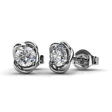 18k white gold gp genuine SWAROVSKI crystal Dream Catcher Stud Earrings