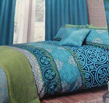 Moroccan Jewel Colours Aqua Green Turquoise Blue DOUBLE Duvet Set NEW Home Gift