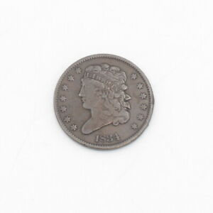 NICE 1834 US CLASSIC HEAD HALF CENT COIN - NO RESERVE #CCB2-8