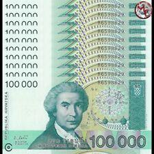 Croatia - 100.000 Dinara 1993 - Pick- 27 - Set 10 PCS - UNC