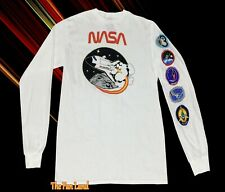 New NASA Space Rocket Cadet Space Long Sleeve Vintage Mens T-shirt