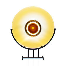 Stefano Toso - Romano Dona - HUGE 'Golden Eye' Glass Sculpture & Stand - Murano