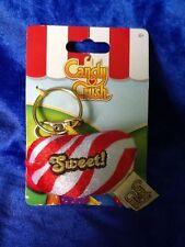 Candy Crush Saga Plush Key Ring Key Chain Red White Striped Sweet! New