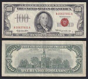 United States 100 Dollars Red Seal 1966 BB / VF C-10