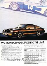 1979 Chevrolet Monza Spyder Original Advertisement Print Art Car Ad J742