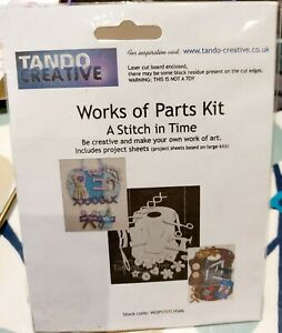 A STITCH IN TIME  KIT BY TANDO CREATIVE WORKS OF PARTS KIT CUT CARD SHAPES NEW