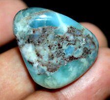58.75 Ct Natural Blue Larimar Pectolite Polished AGSL Certified Untreated Tumble