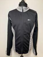 Crivit Sports Men's Black & Grey Outdoor Lightweight Zip Jacket Track Top XL VGC