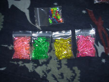"Holiday light pegs, small rounded end 3/4"", 7 colors, large lot of 166"