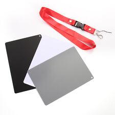 3in1 Lastolite 18% Gray Black White Colour Balance Card Large Exposure + Strap