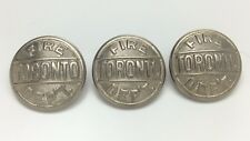 Lot Of 3 Toronto Fire Department Large Metal Buttons C922