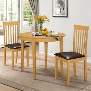 Home Oak Dining Set with 2 Chairs