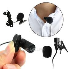3.3ft Braided Wire Lavalier Lapel Tie Clip-On Microphone Mono 3.5mm Microphone