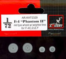 Armory Models 1/72 F-4 PHANTOM II MID TYPE WEIGHTED WHEELS SET Resin Set