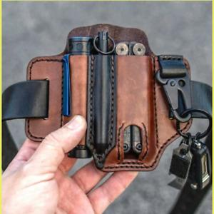 Multitool Leather Sheath EDC Pocket Organizer Portable High Quality Outdoor Bag