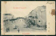 Foggia San Severo Via Garibaldi MACCHIE cartolina VK3561