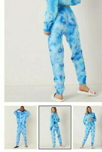 Victoria's Secret Medium Sweat Sets -High Waist Campus Jogger- Blue Tie Dye NWT