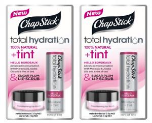 Chapstick Total Hydration Tint & Sugar Plum Lip Scrub, 11g (2 Pack)