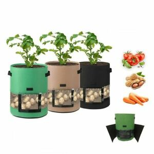 7/10 Gallon Potato Grow Planter Bags Vegetable Planting Bag Fabric Pot Onion