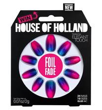 House of Holland Elegant Touch Nails FOIL FADE Purple/Blue/Artificial/False/NEW