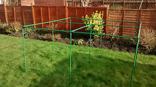 Vegetable and Fruit Cage Frame 2.3m x 2.3m Freestanding Plastic Coated Cane