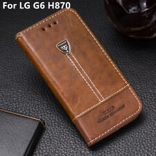 Retro Leather Case For LG G6 H870 Filp Wallet Stand Card Holder Phone Cover 5.7'