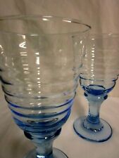 Libbey Sirrus Goblets Misty Blue #181 Lot of 2 Glasses