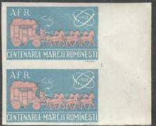 Romania Cinderella Poster Stamp MNH Stamp Centenary imperf pair Mail Coach 1958