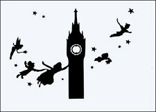 PETER PAN SKYLINE 190 mm MYLAR STENCIL WITH INNER BITS INC - APPROX 21cm x 15cm