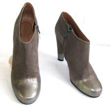 MARC JACOBS Bottines boots talons 10.5 cuir velours gris argent 41 TRES BON ETAT