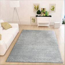 "Shabby Chic Rug Grey Geometric Pattern Soft Modern Design Living Room Carpet Mat 120x160cm (4'x5'3"")"