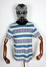 Huf Worldwide Skateboard T-Shirt Tee Monarch Stripe Knit Top Pale Aqua in M