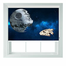 Death Star star wars themed black out roller blind various sizes rollo
