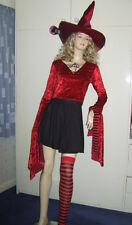 Damas Sexy Bruja Disfraz De Halloween Disfraz Sombrero Talla 10-12 Nuevo