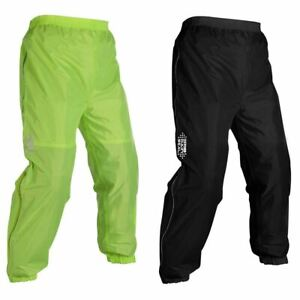 Oxford Rainseal Motorcycle Bike All Weather Over Trousers Hi-Vis Black Yellow