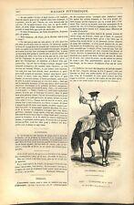 Timbales Soldat timbalier à Cheval régiment de Cavalerie GRAVURE 1845