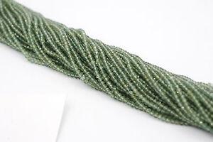 Green Rutilated Quartz Faceted Rondelle 3mm
