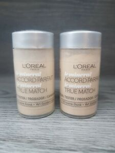 L'Oreal True Match Mineral Accord Parfait Foundation D1.W1 Golden Ivory x 4