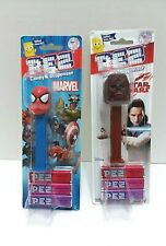 1 Pez Chewbacca Pez Dispenser 1 Star Wars Spiderman Marvel Pez New Lot of 2