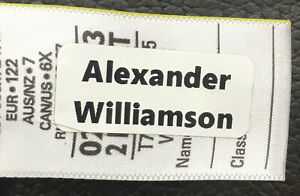 15 Personalised stick on school uniform,care home name labels for clothes etc